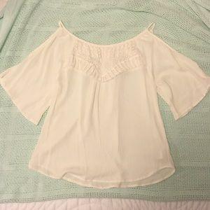 Xhilaration white cold shoulder shirt